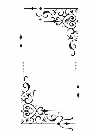 separator: Decorative corner and frame element