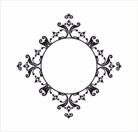 Decorative round frame Vektorové ilustrace