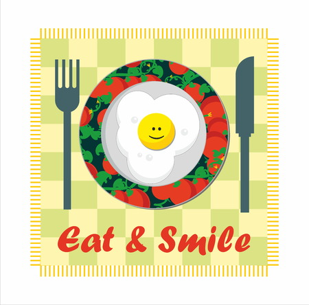carb: smiling fried egg - eat and smile