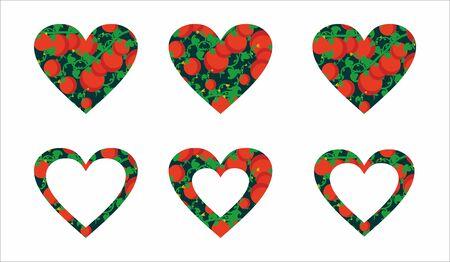 carb: tomato heart Illustration