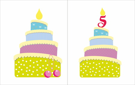 sweet sixteen: Cakes with cherry and candles