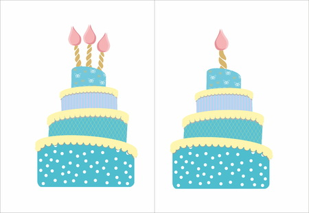 sweet sixteen: Cakes with candles Illustration