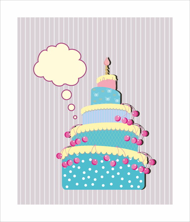 tiered: Sweet cake card pattern