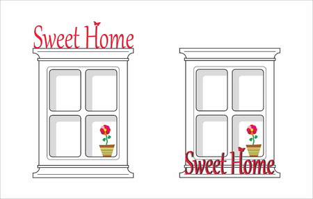 cosiness: Sweet home - window with flower