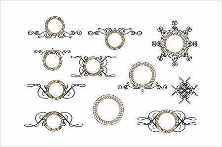 decorative round vintage frame