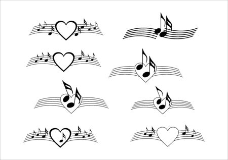 Decorative text break with music notes and heart