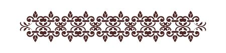 Decorative ornament line with floral elements