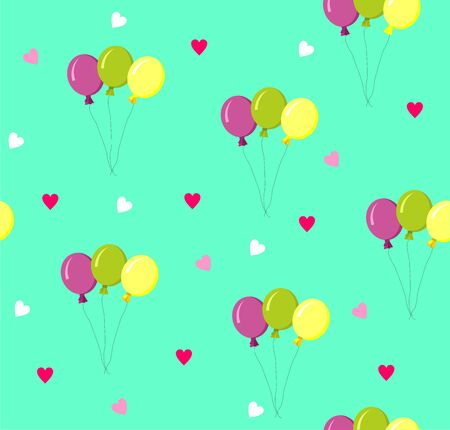 Seamless background with colorful balloons