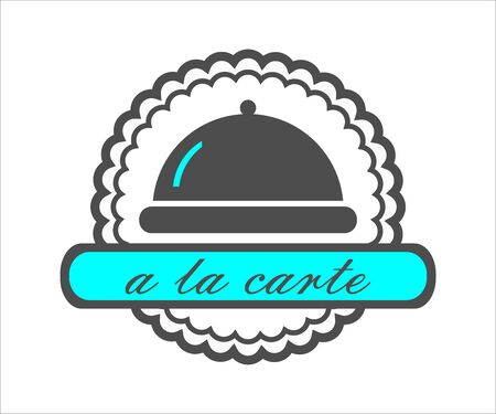 Restaurant and cafe icon with cloche