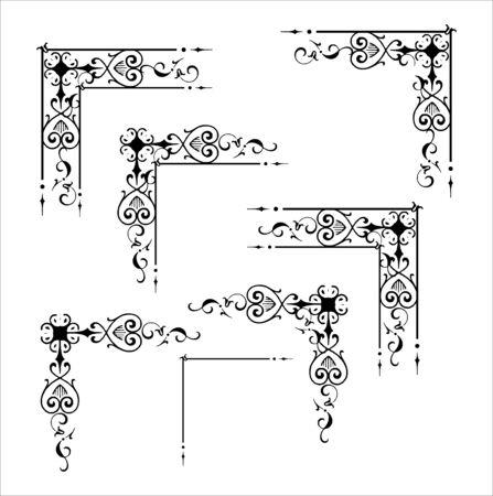 Decorative corner and frame element
