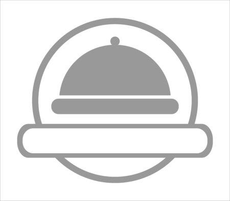 Restaurant logo - cloche for serving