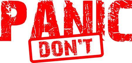 Don`t panic stamp word