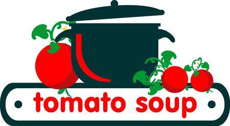tomato soup, gazpacho, cuisine logo, pan icon