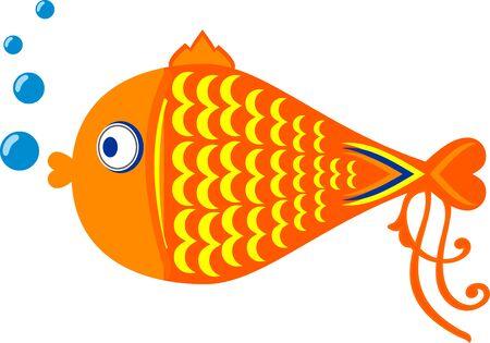 Cartoon illustration of a gold fish