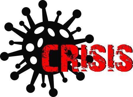 Coronavirus and crisis graphic icon symbol Vektorgrafik