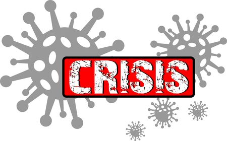 Coronavirus and crisis graphic icon symbol