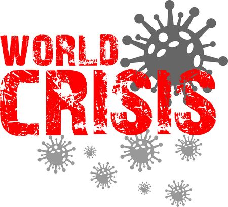 Coronavirus and world crisis graphic icon symbol