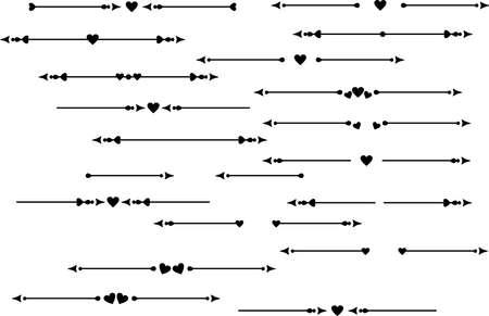 Decorative element, delimiter, text breaks wih heart