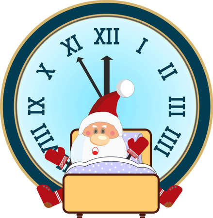 Santa Claus overslept and was late for New Year party