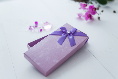 gift on March 8th box on a white background