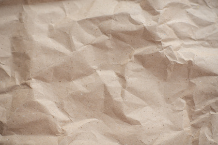 crumpled brown textured old paper, background