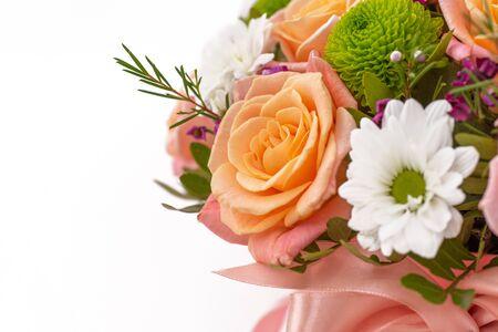 Beautiful flower bouquet, isolated on white background 版權商用圖片