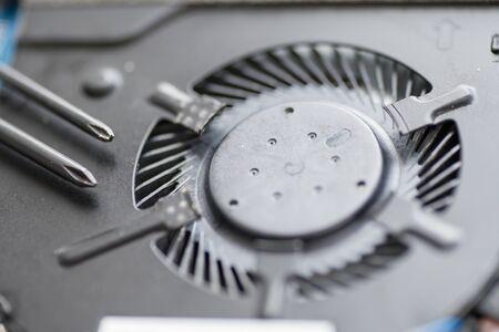 Professional repair of computers, laptops, boards. macro, close-up