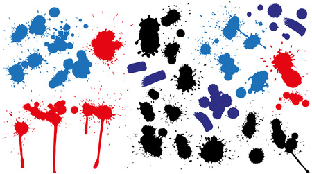 splotches: Preview blots traces of brush, spray paint made in different colors.