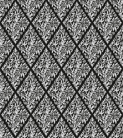 papier peint noir: Image de fond d'�cran noir dans la forme de diamants et d'ornement floral.