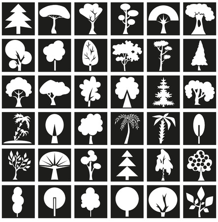 coma: The image icons with different types and forms of trees.