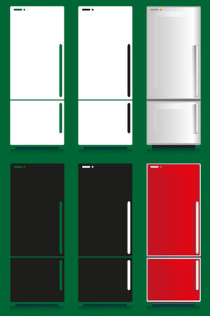 household appliances: Image of household appliances with different design: refrigerator. Illustration
