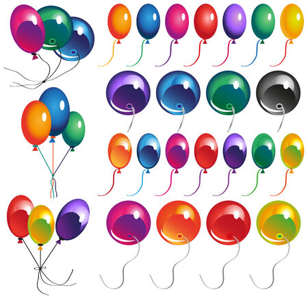 conjunction: image of balloons in different color variations and in conjunction