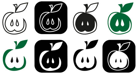 lobule: Image of various characters in form of apple.