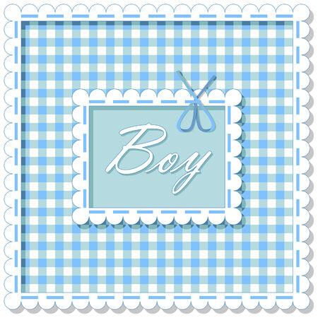 blue cells: background image of blue cells labeled boy