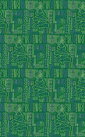 disegno a mano: carta da imballaggio immagine disegno albero di Natale mano