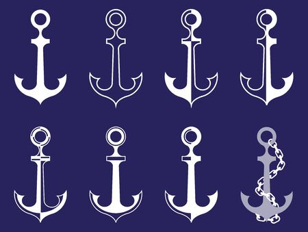 nexus: vector with anchor with different look and chain