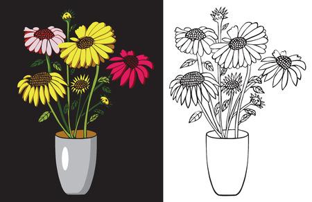 꽃 아이콘 디자인입니다.