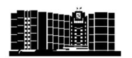 Silhouette of building on white background. Illustration House of republic in city of Saransk 일러스트