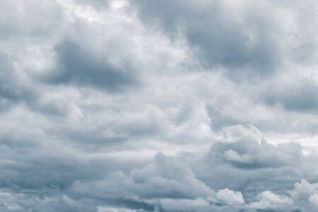 Light cumulus clouds in the blue sky. Toning Classic Blue.