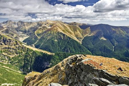 fagaras: The Fagaras Mountains. Southern Carpathians in Romania Stock Photo