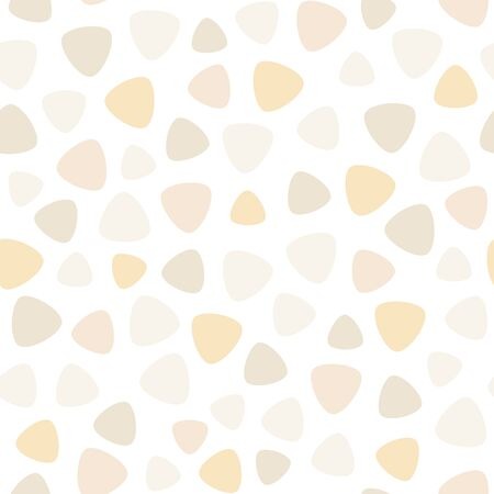 zinnwaldite brown: Geometric spots vector seamless pattern. Soft pastel colors, creamy, vanilla, caramel. Editable design element for fabric print, card, table cloth, furniture, banner, cover, invitation, background