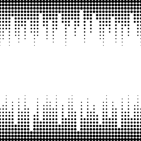 halftone cover: Vector monochrome seamless pattern with dots, black & white halftone transition. Dynamic visual effect, modern simple endless background. Geometric texture for prints, digital, cover, identity, web