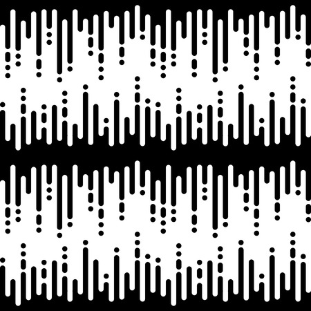 halftone cover: Vector monochrome seamless pattern, vertical rounded lines, black & white halftone transition. Modern trendy abstract endless texture. Design element for cover, wallpaper, fabric, textile, prints, web