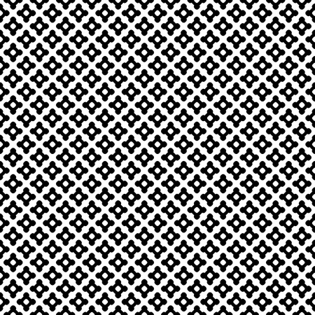 black lines: Vector seamless pattern. Abstract black & white texture, simple geometric figures, smooth lines, repeat tiles. Endless monochrome minimalist background, design for prints, decor, textile, digital, web
