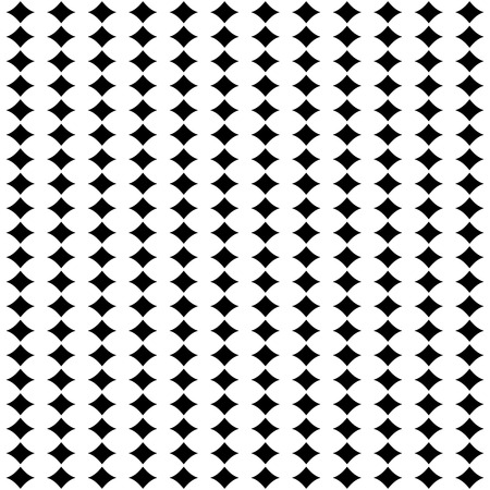 digital printing: Vector seamless pattern, simple abstract geometric background with black & white figures. Endless symmetric texture. Design element for printing, stamping, decoration, cover, wrapping, digital, web Illustration