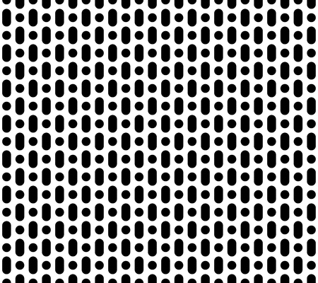 Vector  seamless pattern, simple geometric background with vertical rounded lines, black & white. Abstract endless texture for prints, decoration, textile, digital, cover, package, textile