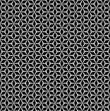 digital printing: Vector monocolor seamless pattern, black & white mosaic background. Linear figures & rhombuses, simple abstract geometric ornament texture. Design element for printing, stamping, decoration, digital Illustration