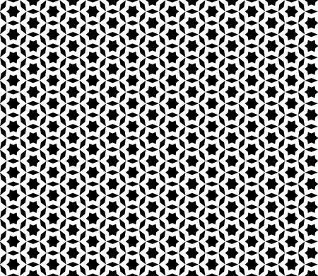 digital printing: Vector monochrome seamless pattern. Black & white mosaic ornamental texture, repeat abstract background. Design element for printing, stamping, decoration, wallpaper, package, textile, digital, web