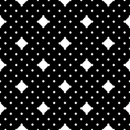 perforated: Vector seamless pattern. Black & white simple minimalist texture. Different size circles. Polka dot wallpaper, repeat tiles. Abstract dark endless background. Design element for prints, decor, textile Illustration