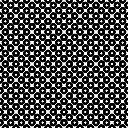 perforated: Pattern, abstract monochrome geometric background, perforated circles. Simple figures, repeat tiles. Stylish modern texture. Black & white. Design for prints, decor, textile, furniture